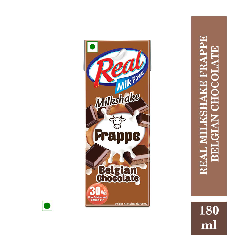 Milk Shakes, Real Milkshake Frappe Belgian Chocolate - 180ml
