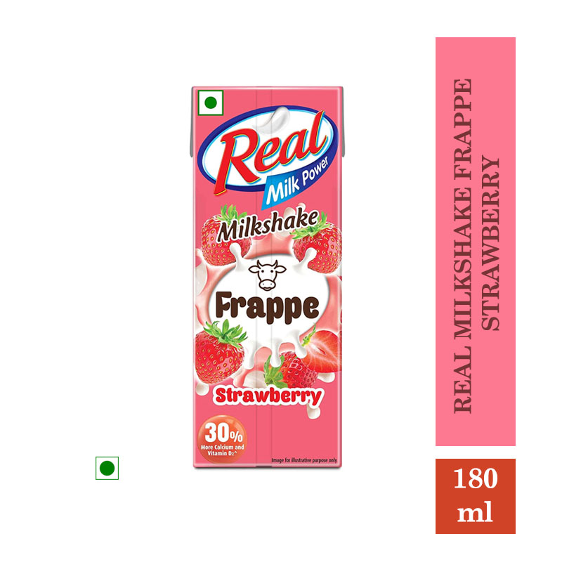 Milk Shakes, Real Milkshake Frappe Strawberry - 180ml