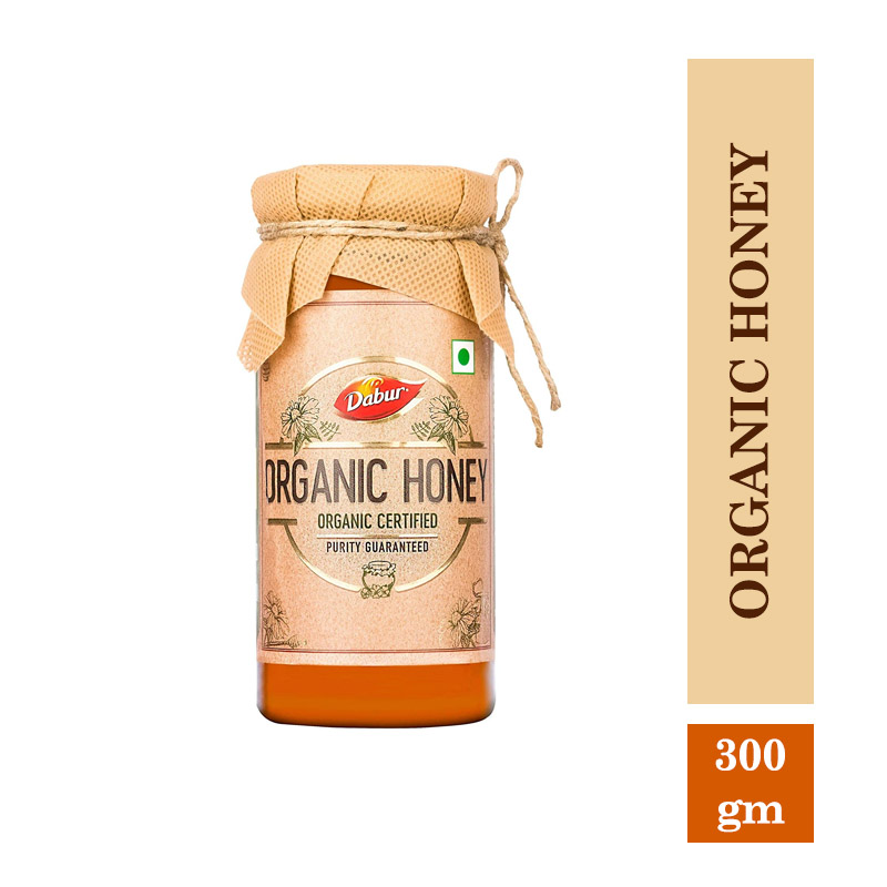 Health & Medicine, Dabur Organic Honey   100% Pure and Natural  Unprocessed and Unpasteurized Honey  No Sugar Adulteration -300gm