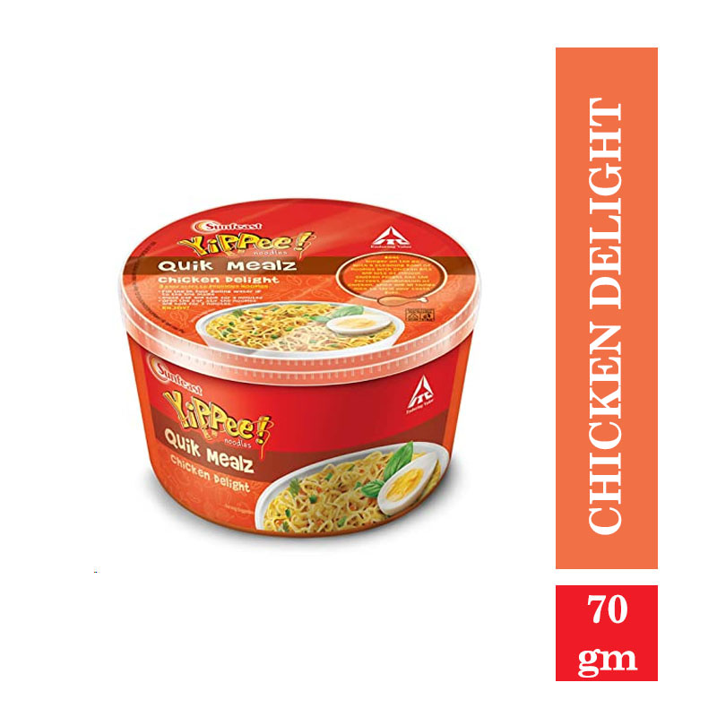 Ready to Cook & Eat, Yippee Quick Mealz Chicken Delight - 70gm