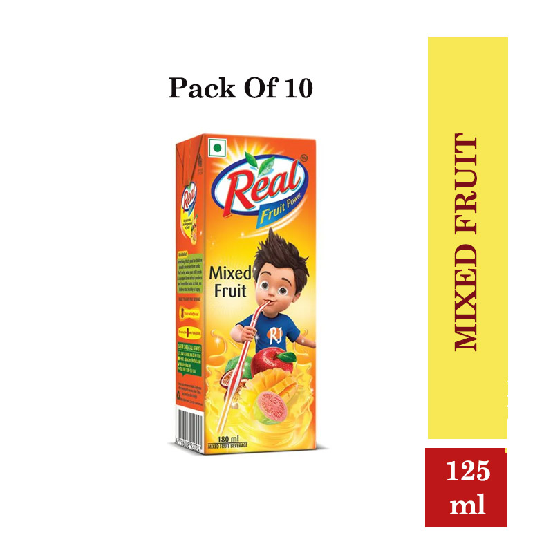 Juices, Real Fruit power mixed fruit - 125ml (Pack of 10 Pcs) @ MRP-10/-