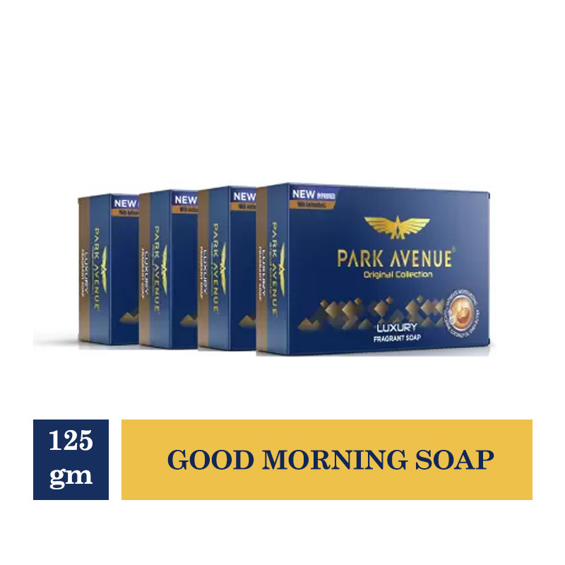 Combo Offers, Park Avenue Good Morning Soap For Men - 125gm (Buy 3 Get 1 Free)