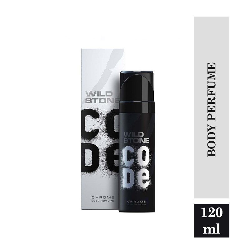 Fragrances & Deos, Wild Stone Code Chrome No Gas Body Perfume for Men, Long Lasting Masculine Fragrance for Every day Wear - 120ml