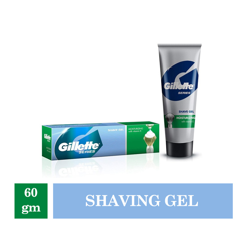 Men's Grooming, Gillette Series Shave Gel Moisturizing with Vitamin E - 60gm