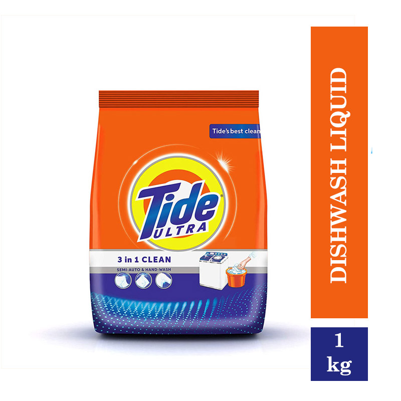 TOP Household Products, Tide Ultra 3 in 1 Clean Detergent Washing Powder (1kg)