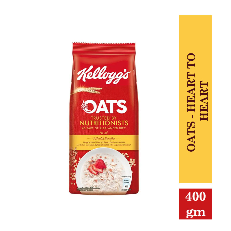 Breakfast Cereals, Kelloggs Oats - Heart to Heart - 200 g Pouch