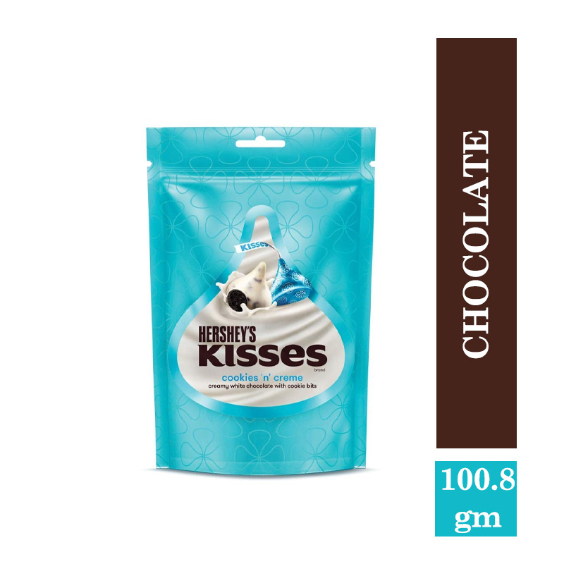 Top Household Products, Hershey's Kisses Cookies 'N' Cream Pouch - 100.8gm