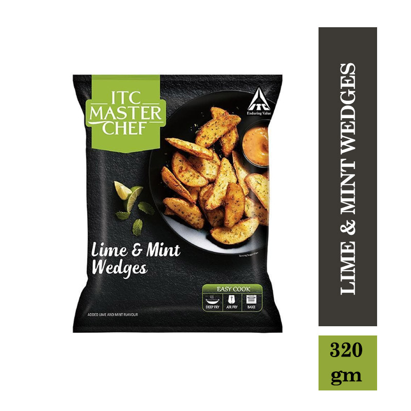 Frozen Snacks, ITC Master Chef Lime & Mint Wedges - 320gm