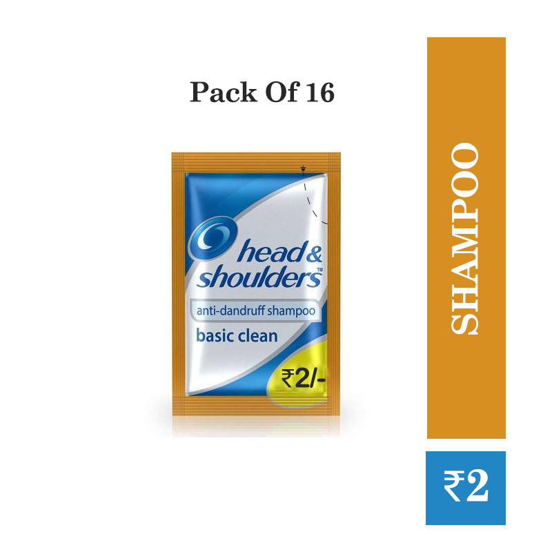 Hair Care, Head & Shoulders Shampoo Pouch @2/- (pack of 16)