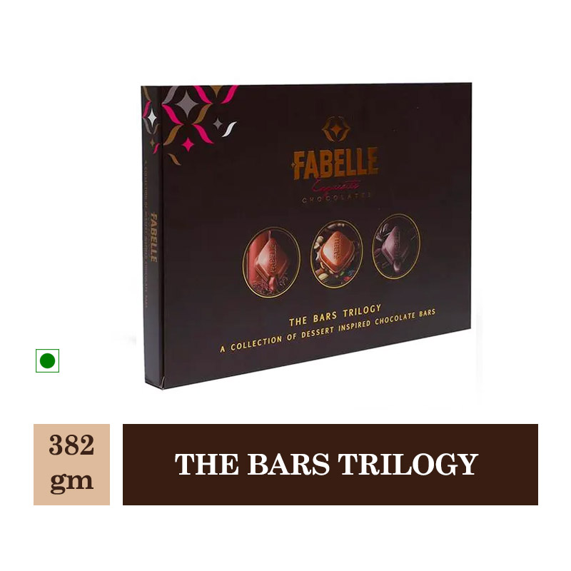 New Arrivals, Fabelle Chocolates The Bars Trilogy - 382Gm