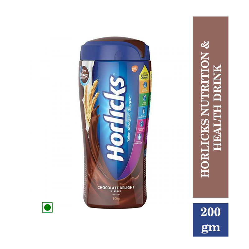 Health Drinks, Horlicks Nutrition & Health Drink - Chocolate Flavour (200gm)