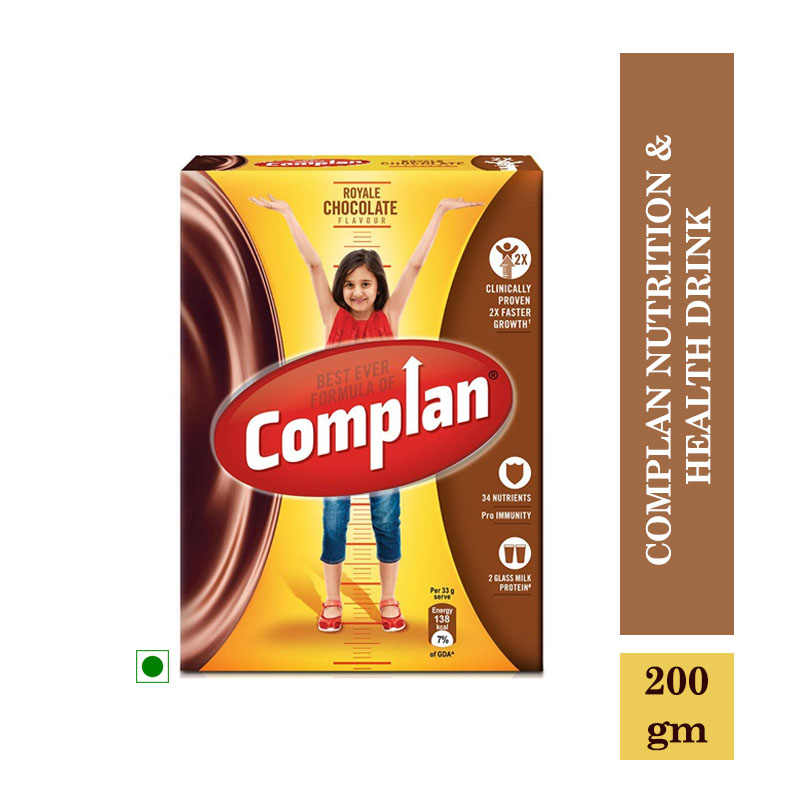 Health Drinks, Complan Nutrition & Health Drink - Royale Chocolate (200gm)
