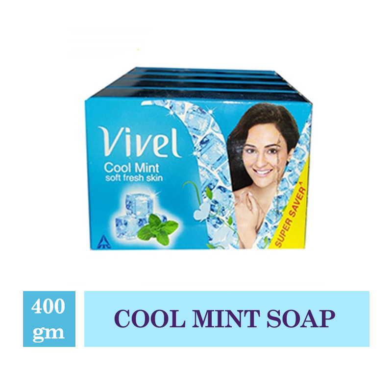 Vivel Cool Mint Soap - 400Gm (Buy 3 Get 1 Free)