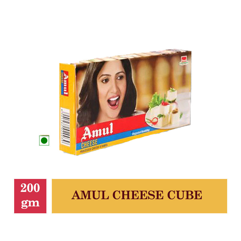 Dairy, Amul Cheese Cube - 200Gm
