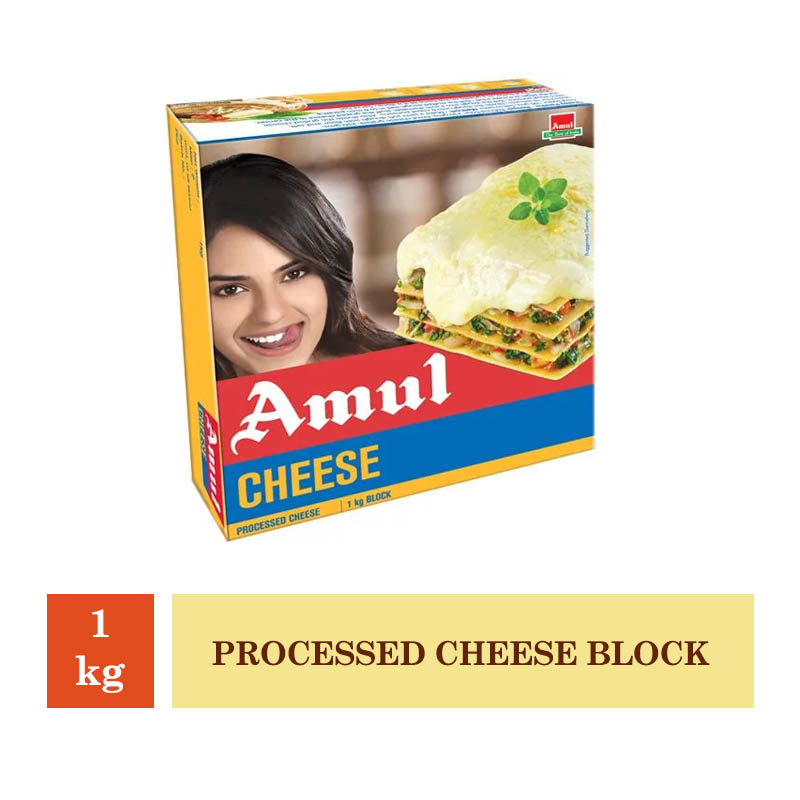 Dairy, Amul Processed Cheese Block - 1Kg