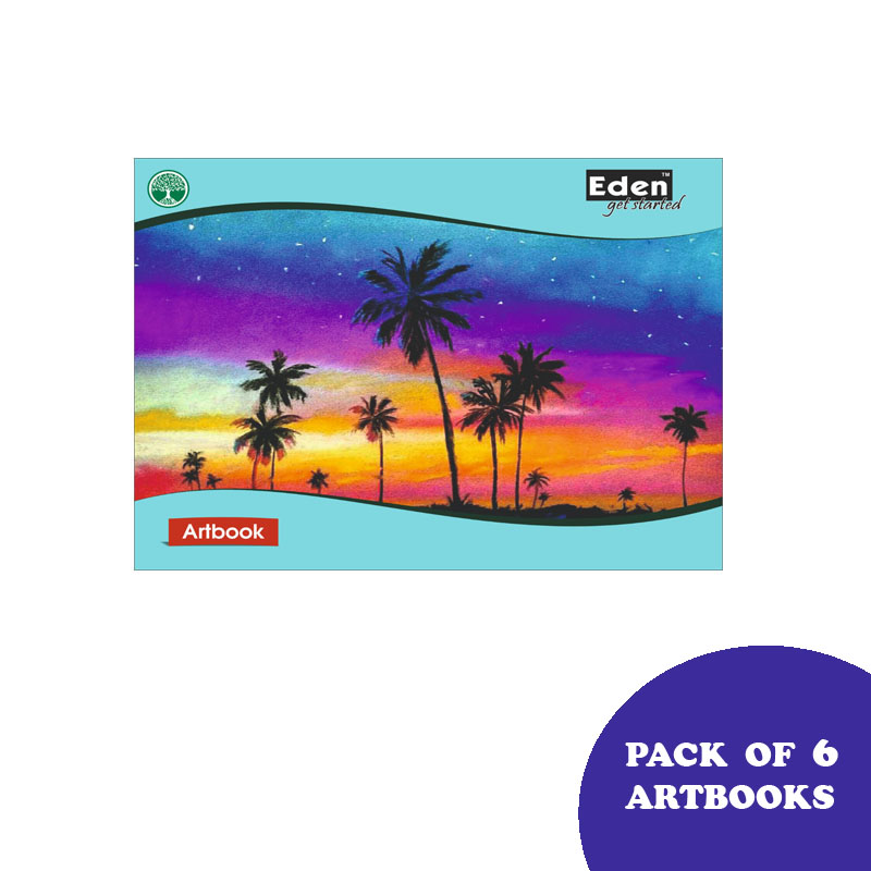 Notebooks, Drawing, Small Size, 96 Pages, Unruled, Pack of 6 - Eden Drawing Book