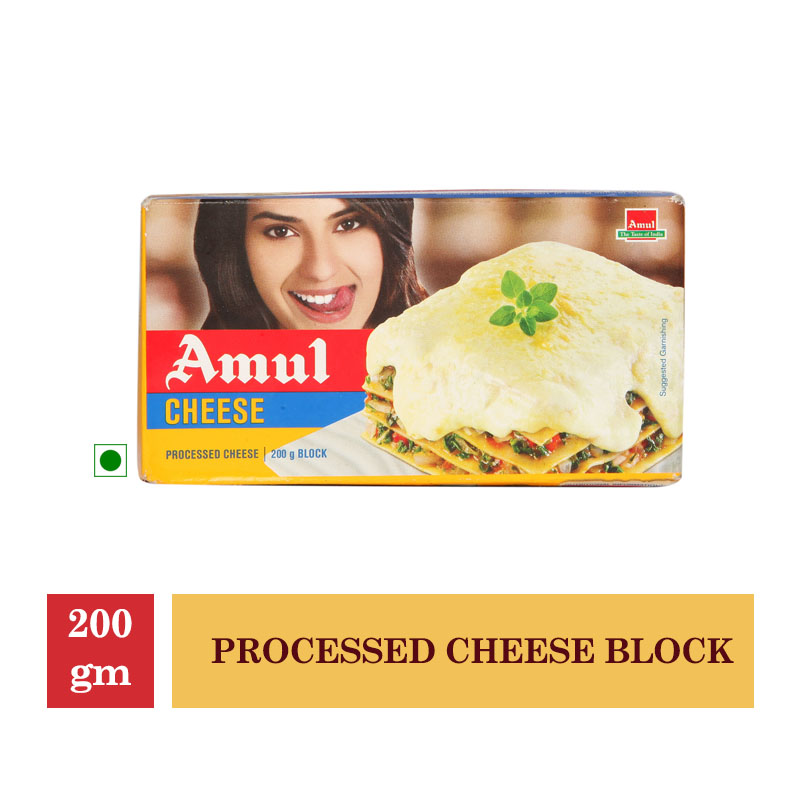 Dairy, Amul Processed Cheese Block - 200Gm