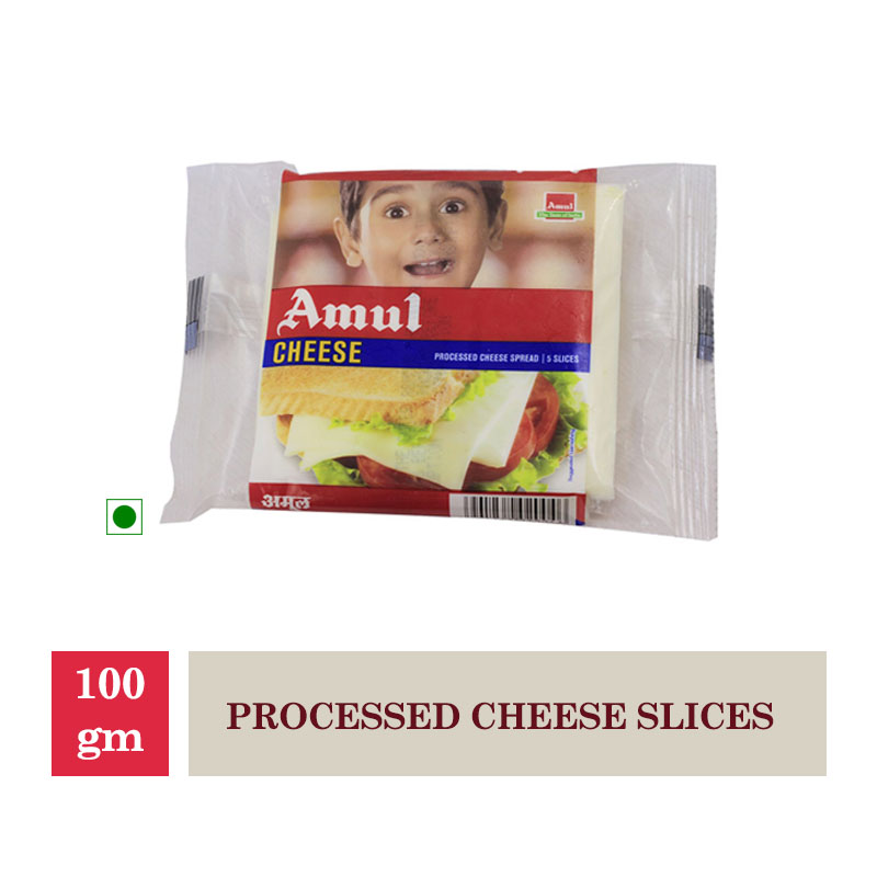 Dairy, Amul Processed Cheese Slices - 100Gm