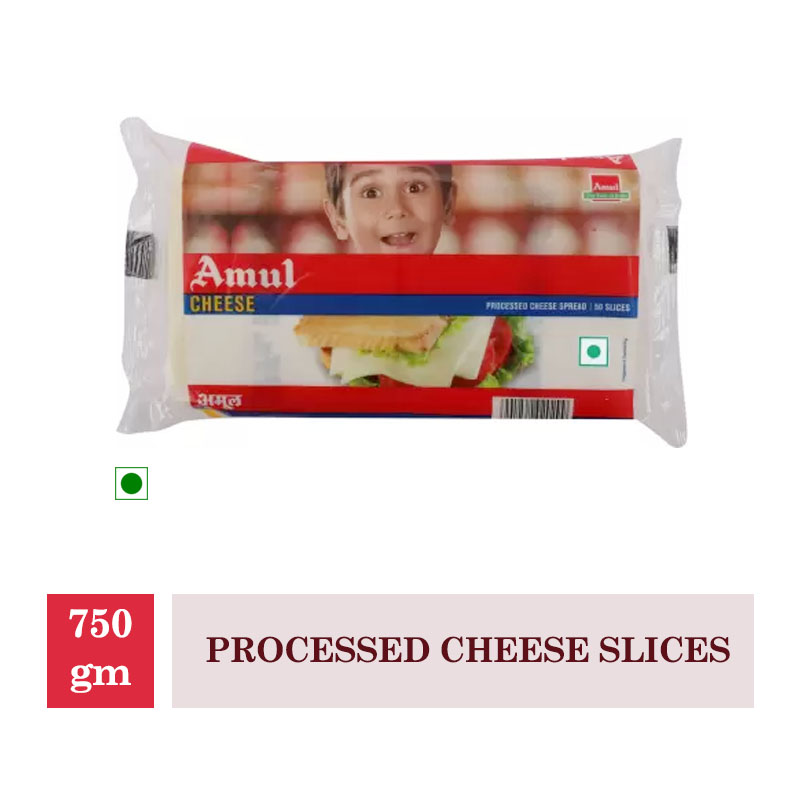 Dairy, Amul Processed Cheese Slices - 750Gm