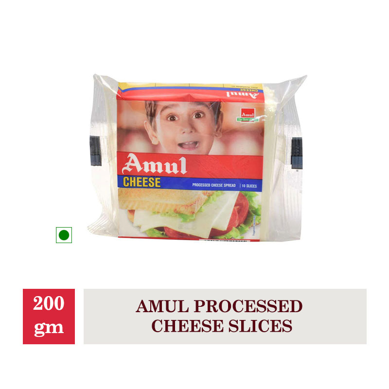 Dairy, Amul Processed Cheese Slices - 200Gm