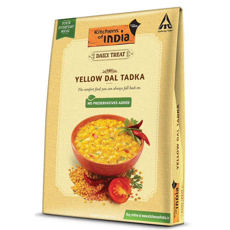Ready to Cook & Eat, Kitchen's of India Ready to Eat - Yellow Dal Tadka (285gm)