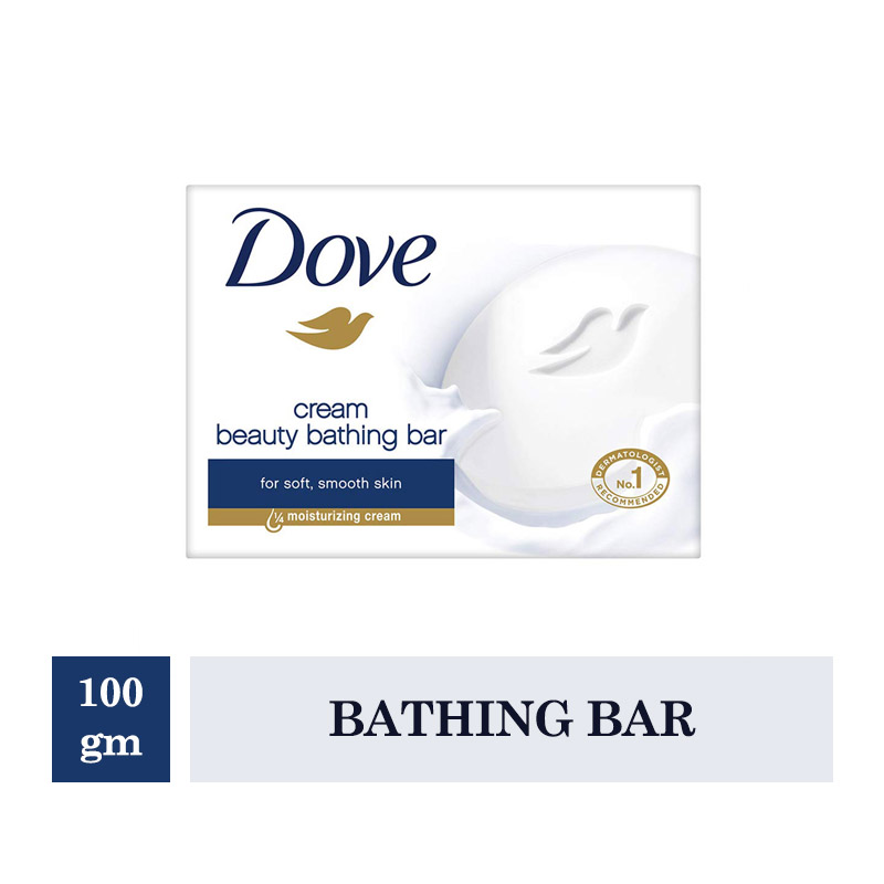 Bathing Bars & Soaps, Dove Cream Beauty Bathing Bar (100gm)