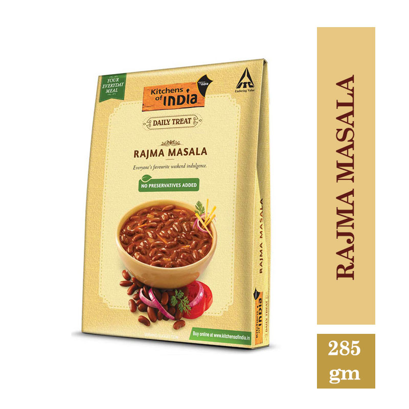 Ready to Cook & Eat, Kitchen's of India Ready to Eat - Rajma Masala (285gm)