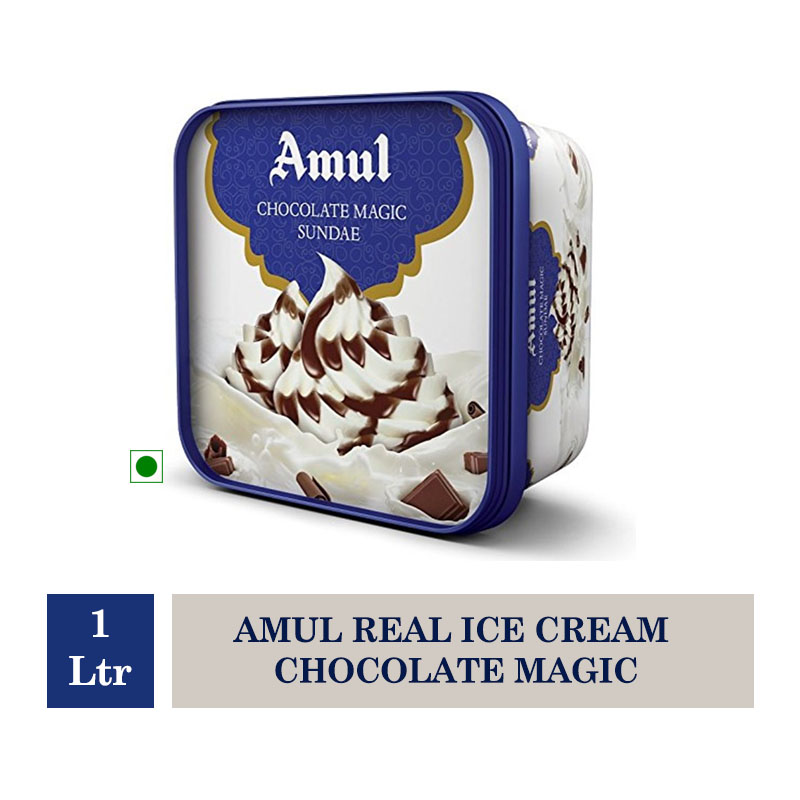 Amul Real Ice Cream Chocolate Magic - 1 Ltr
