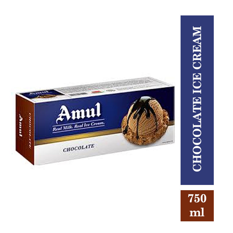 Amul Real Ice Cream Chocolate - 750ml (Buy 1 Get 1 Free)