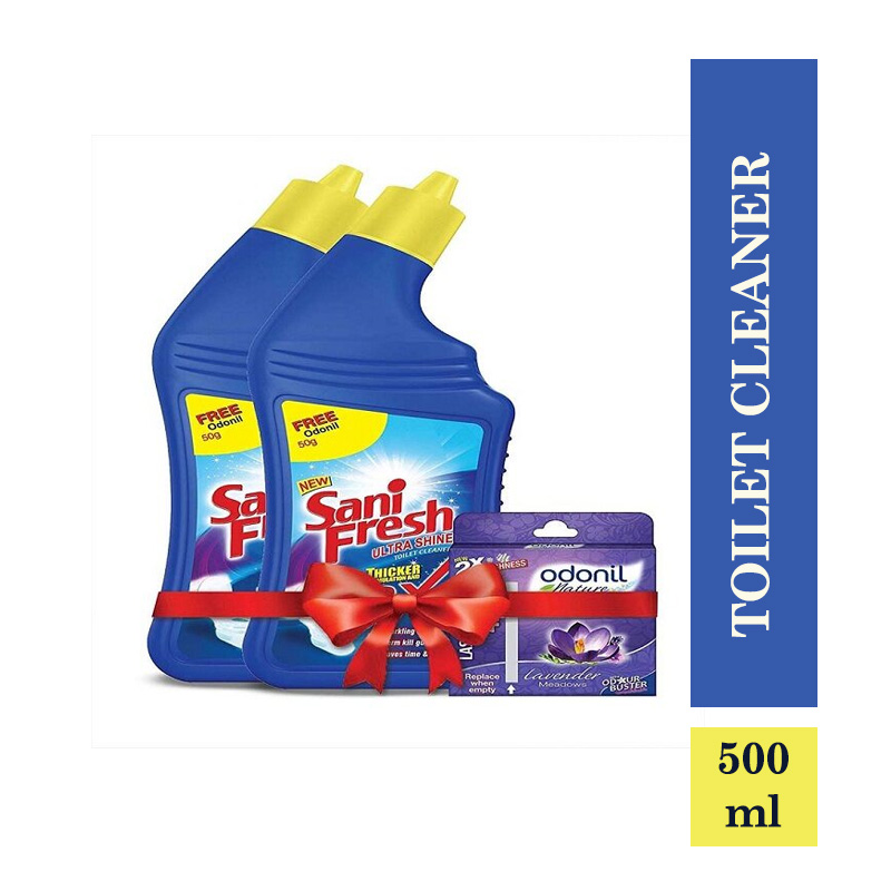 Sanifresh Toilet Cleaner (Buy 1 Get 1 Free) and Odonil Air Freshner 50gm Free (500ml)