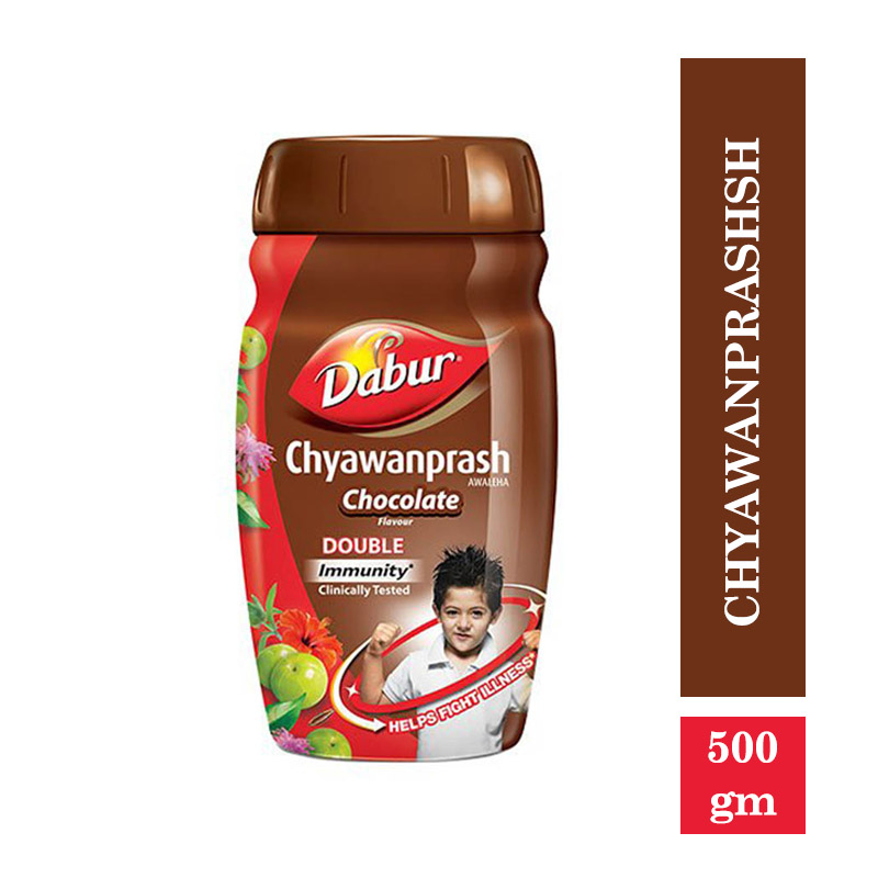Dabur Chyawanprash - 2X Immunity - Chocolate Flavour (Free 50gm Honey) (450gm)