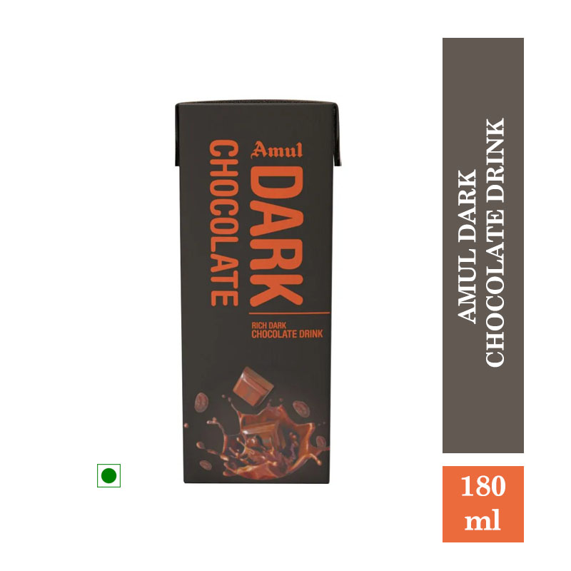 Health Drinks, Amul Dark Chocolate Drink - 180ml