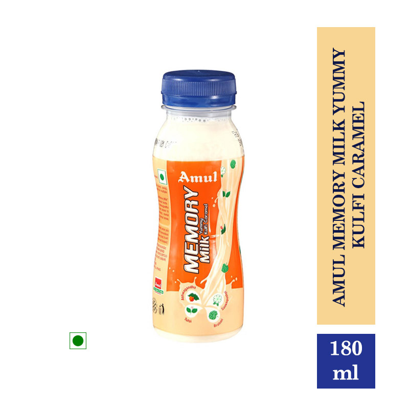 Health Drinks, Amul Memory Milk Yummy Kulfi Caramel - 180ml