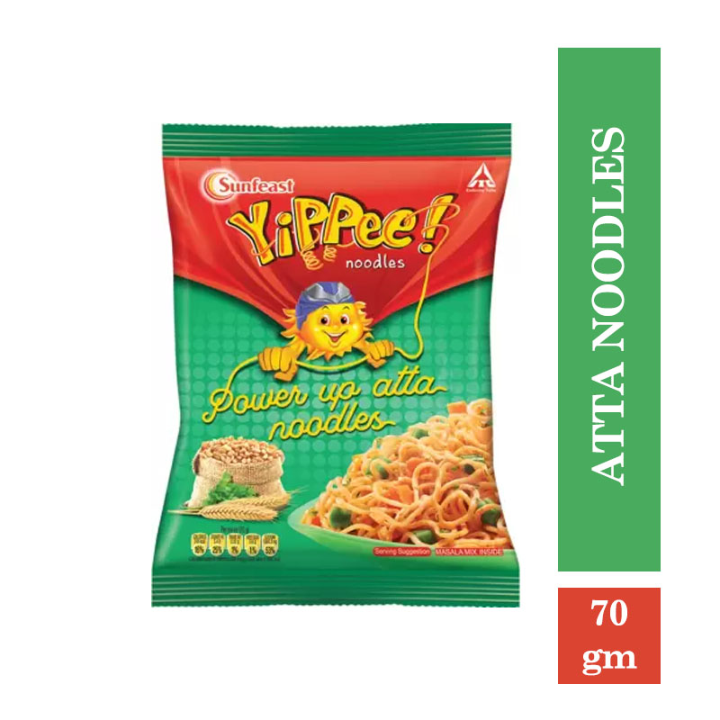 Noodles & Pasta, Yippee Power Up Atta Noodles - 70gm