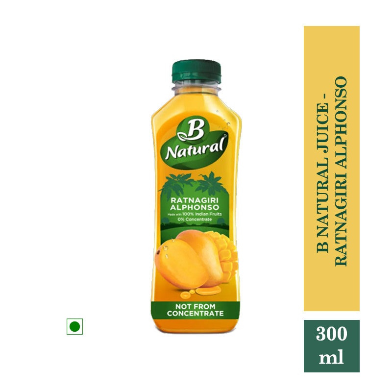 Juices, B Natural Juice - Ratnagiri Alphonso 300ml
