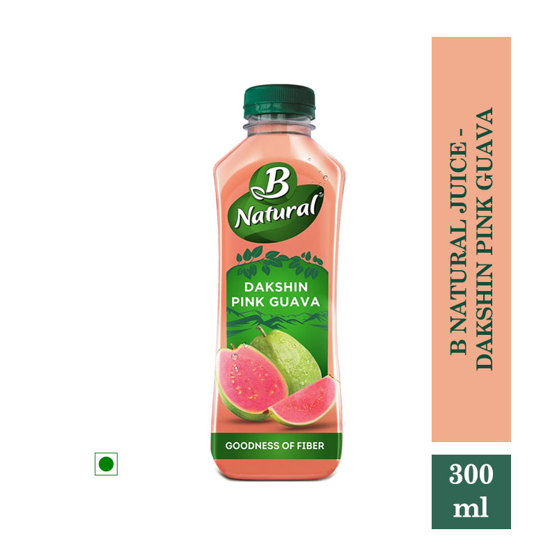 Juices, B Natural Juice - Dakshin Pink Guava 300ml