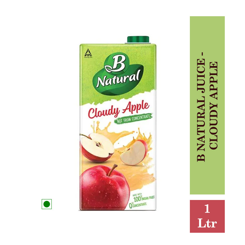 Juices, B Natural Juice - Cloudy Apple 1Ltr