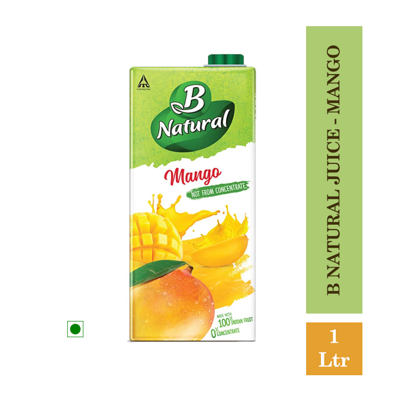 Juices, B Natural Juice - Mango 1Ltr