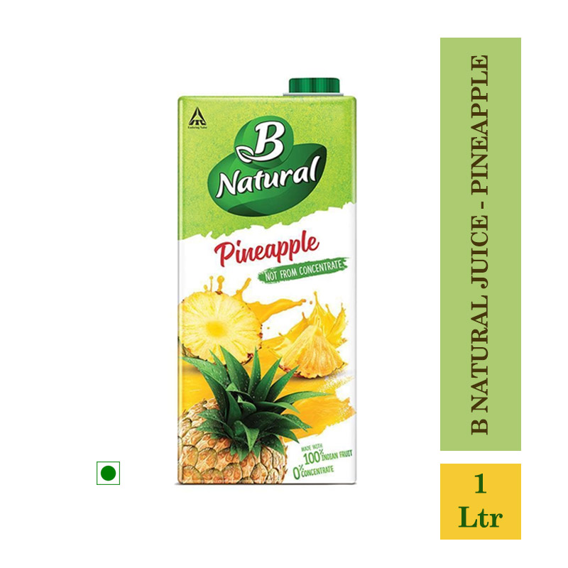 Juices, B Natural Juice - Pineapple 1Ltr