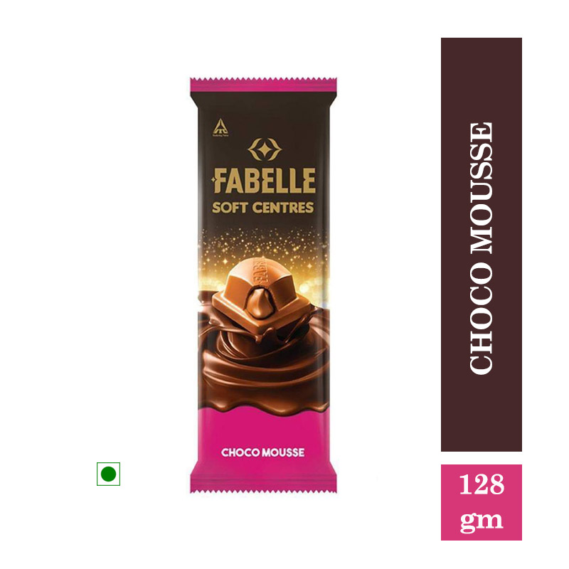 Chocolates & Candies, Fabelle Chocolates Choco Mousse Soft Bar - 128gm
