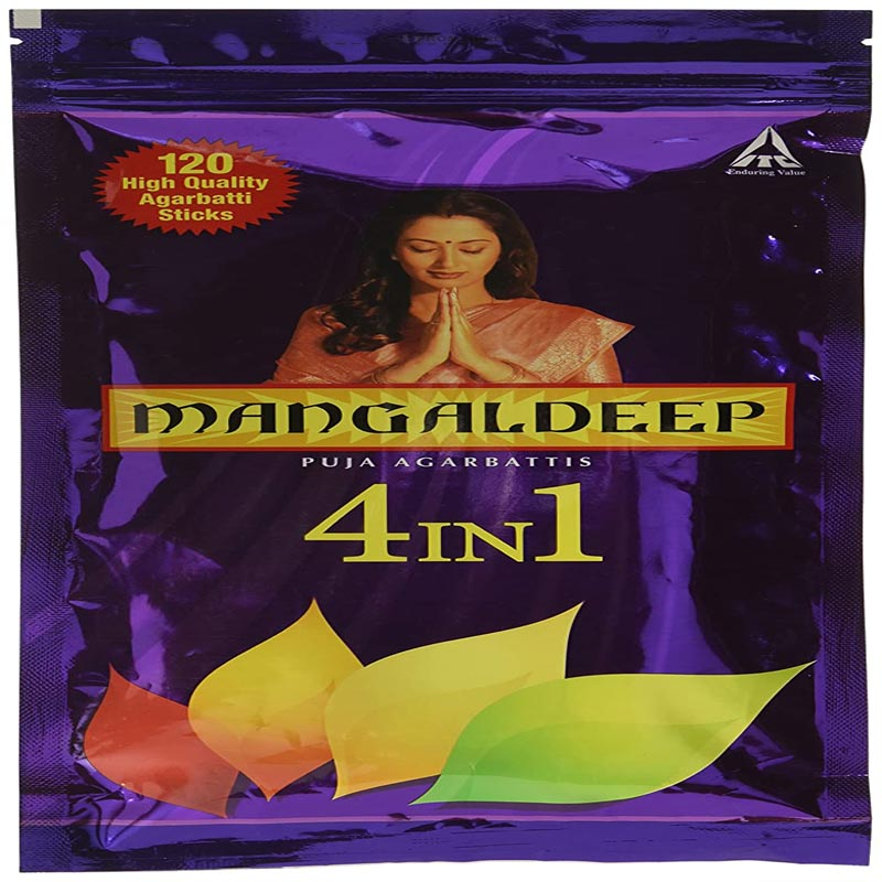 Mangaldeep Ziplock 4in1 Agarbatti - 130 Sticks
