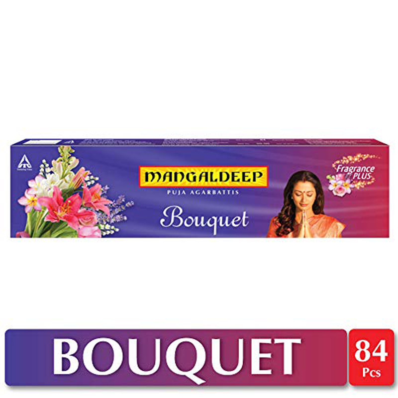 Mangaldeep Bouquet Agarbatti - 80 Sticks