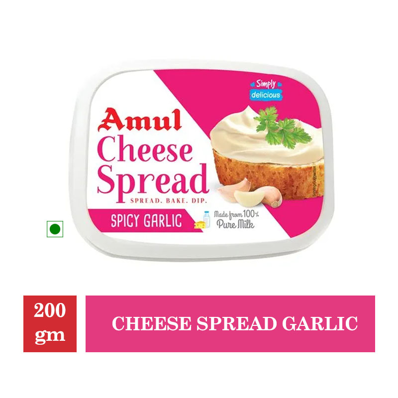 Dairy, Amul Cheese Spread Garlic - 200 Gm
