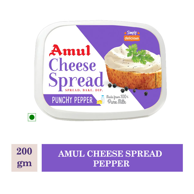 Amul Cheese Spread Pepper - 200 Gm