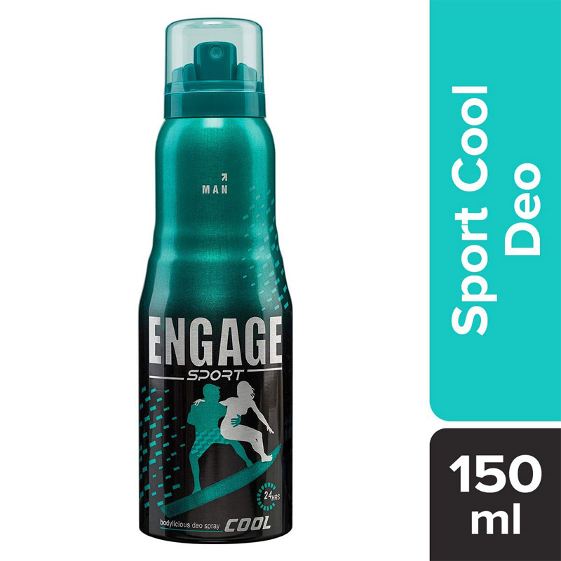 Men's Grooming, Engage Sport Cool Deodorant Spray for Men - 165ml