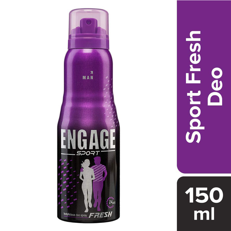 Men's Grooming, Engage Sport Fresh Deodorant Spray for Men - 165ml