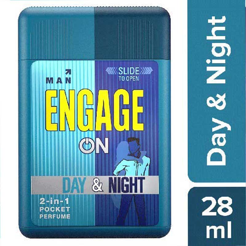 Men's Grooming, Engage On 2in1 Pocket Perfume Day & Night - for Men - 28ml