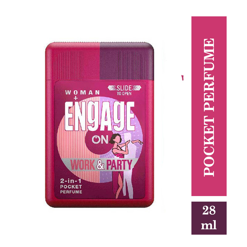 Fragrances & Deos, Engage On 2in1 Pocket Perfume Work & Party - for Women - 28ml