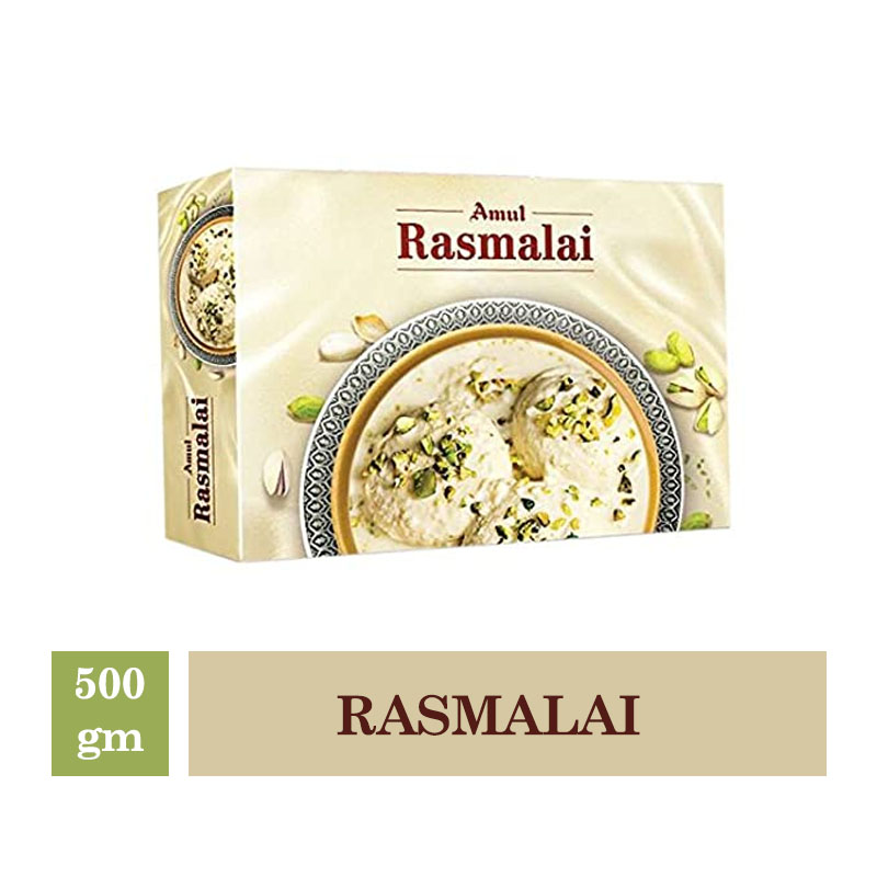 Indian Mithai, Amul Rasmalai - 500gm